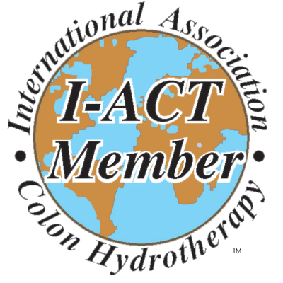The logo of the international association of colon hydrotherapy
